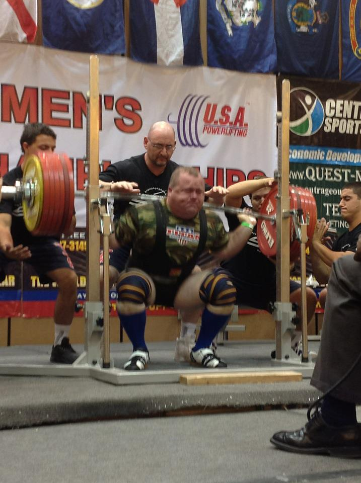 Steve-Mann-Opening-Squat-At-Bottom-2012 USA PowerliftingNational champion