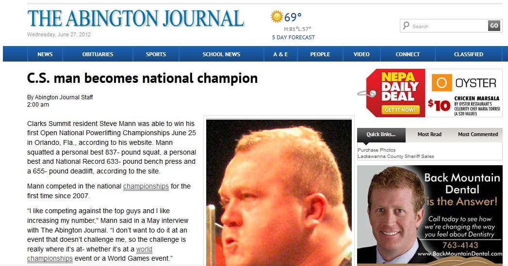 Abington-Journal-June-27-2012-Steve-Mann-National-Champion-Powerlifting-Geodis-Supply-Chain